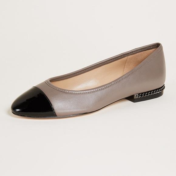 d85f1f1e1293 Michael Kors Sabrina Leather Flats NIB US 7.5